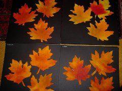 koffiefilters met ecolink kleuren, later herfstbladeren knippen