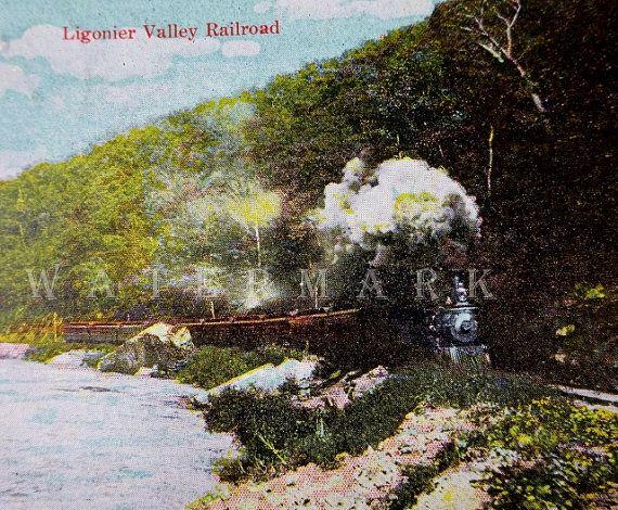 Vintage Postcard 1909 Ligonier Valley Railroad Train Postcard Collectible Postcard Paper Ephemera Vintage Postcard Postcard Vintage Postcards