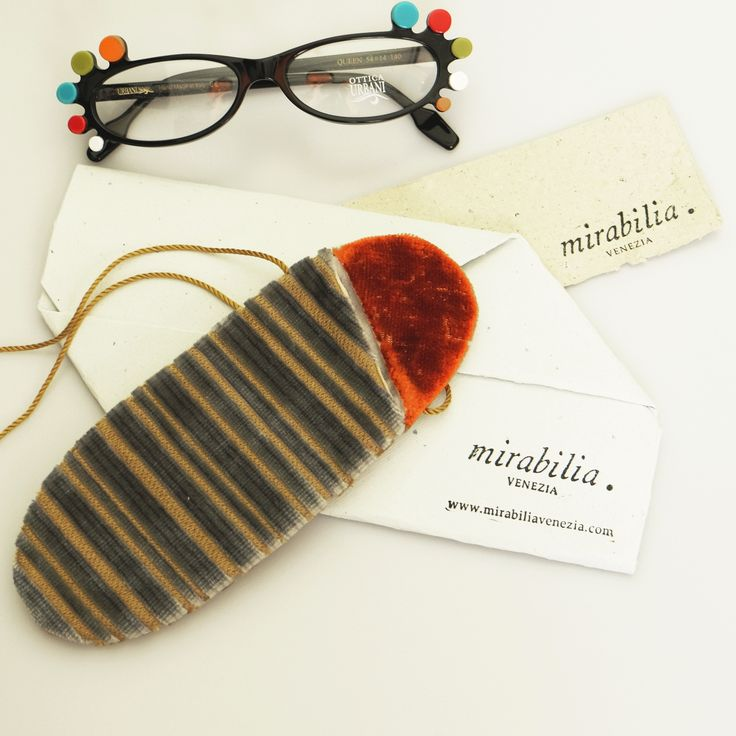 Mirabilia case with Bevilacqua fabrics for Urbani's glasses.