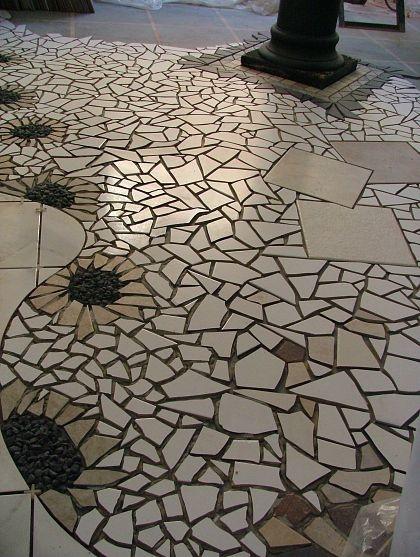 mosaic tile floor posted on hometalk