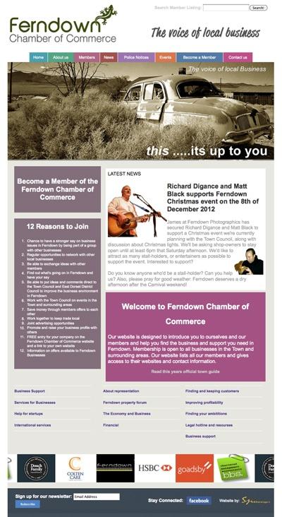 Brand new website of the Ferndown Chamber