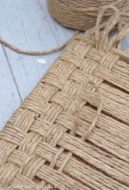 how to create a rustic wood footstool with jute twine, crafts, how to, painted furniture, repurposing upcycling, rustic furniture