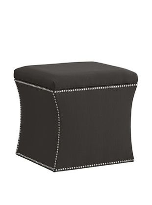 51% OFF Skyline Nail Button Storage Ottoman, Charcoal