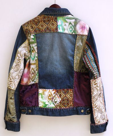 Follow the Patchwork Jeans Trend http://www.seasonofstyle.com/womens-fashion/20-ways-to-follow-the-patchwork-jeans-trend/