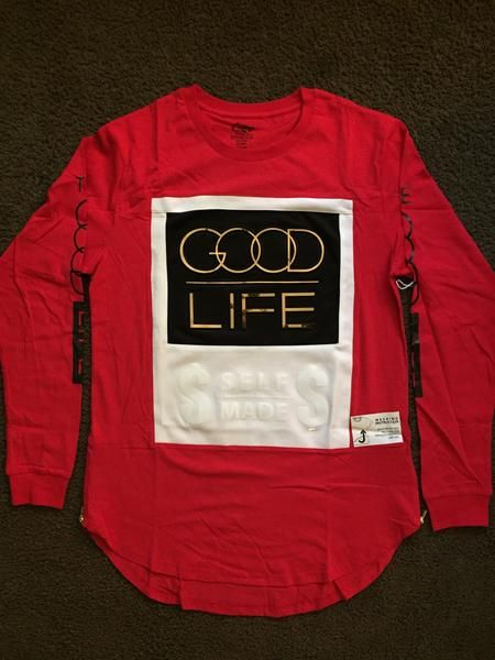 Good Life Self Made Shirt Long Sleeve With Side Zippers ...