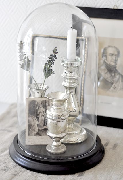 Cloches also provide a great way to exhibit and protect cherished items