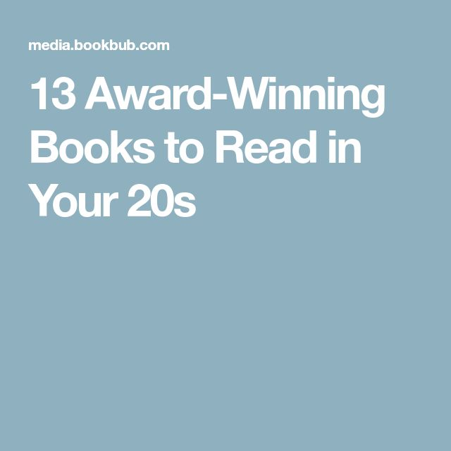 13 Award-Winning Books to Read in Your 20s