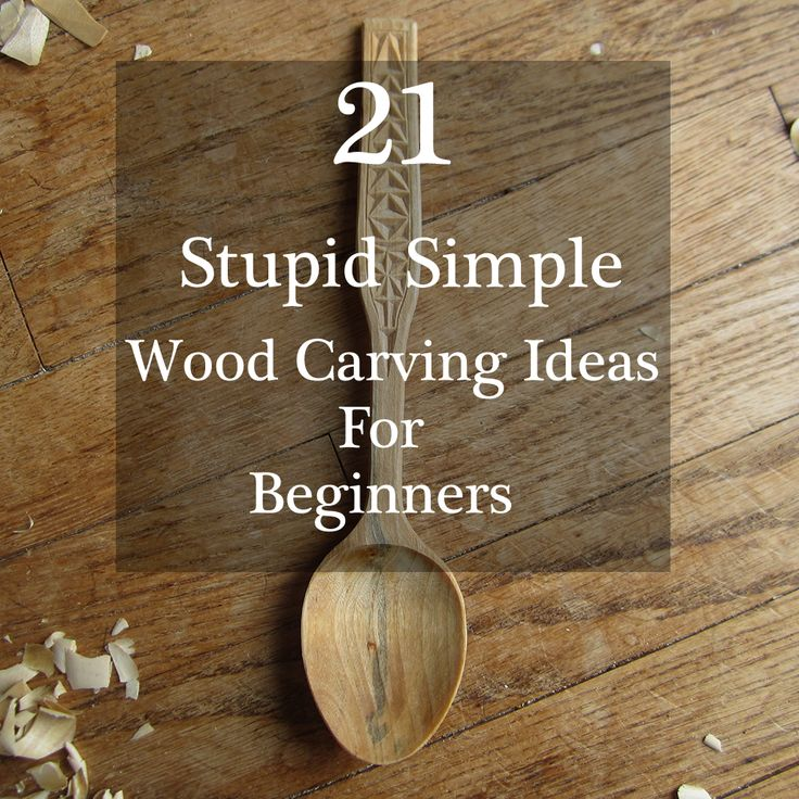 Easy to do wood carving ideas for whittling and chip for Woodworking for beginners