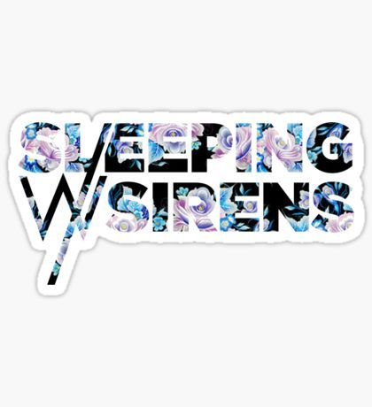 Sleeping With Sirens Logo Floral Sticker