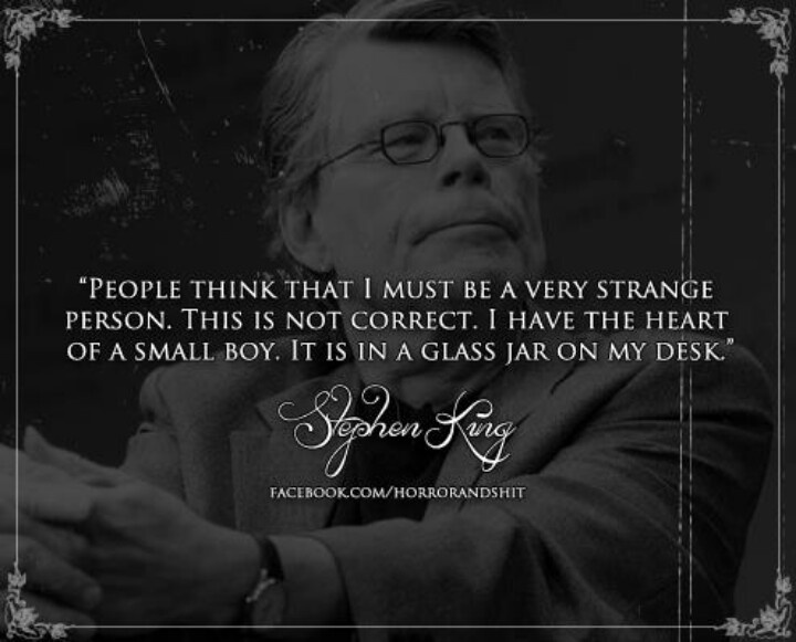 """stephen king essay on horror """"why we crave horror movies"""" stephen king essay sample renowned horror author stephen king is known for his humorous and macabre articles, like, """"why we crave horror movies"""" king uses humor, metaphors, and relates to readers on a personal level."""