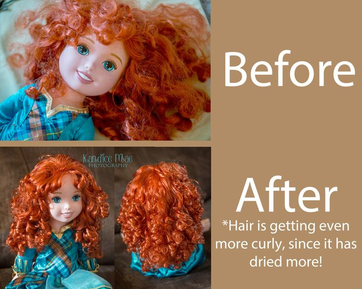 Fixing Disney Doll hair! Curly and Straight!