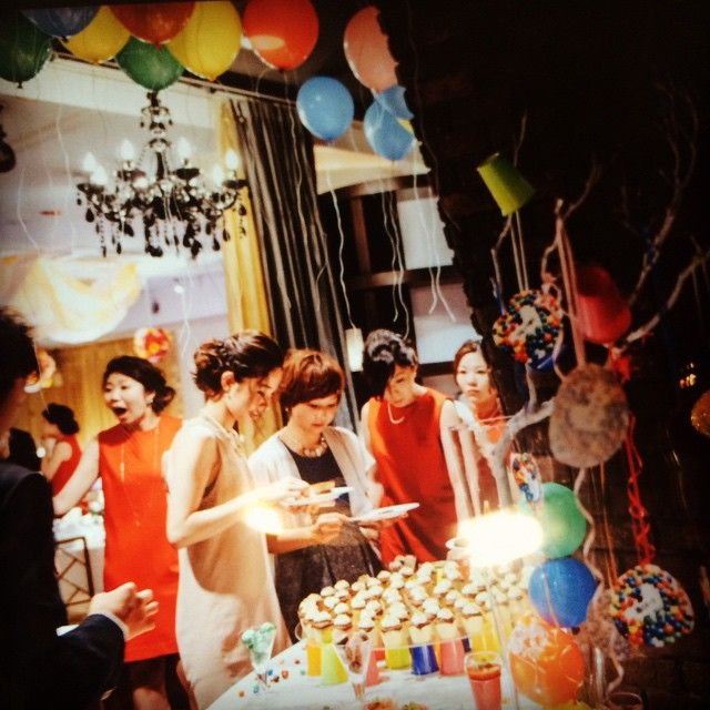 「#magritte_wedding #weddingphoto #wedding #okayama#magritte #Dessertbuffet #party」