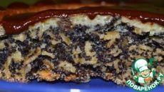 Хрустящий маковый пирог с овсяными хлопьями - кулинарный рецепт