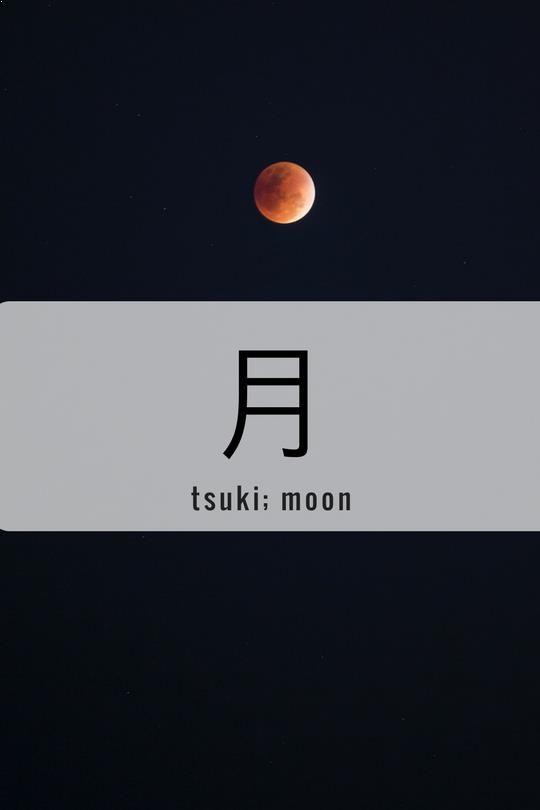 One Kanji a Day月、tsuki; moon