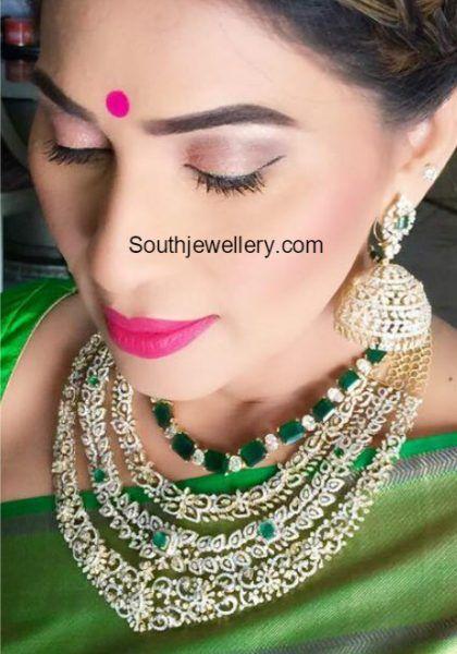 Shreedevi Chowdary in diamond jewellery