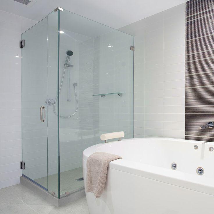 this glass shower door has 90degree shower frameless shower doors chrome finish clear glass hera style full back hinge 90degree sleeveu2026