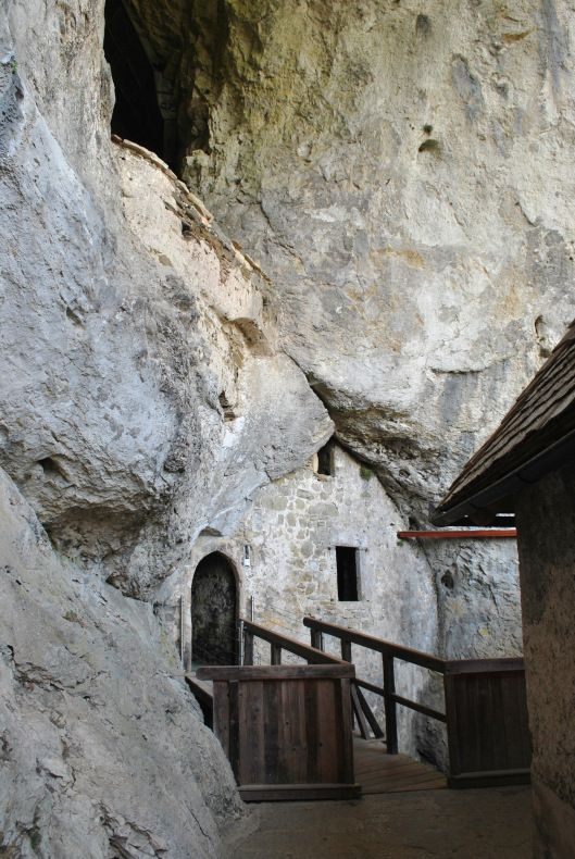 Inside Predjama Grad (Predjama Castle) - Slovenia's cave castle.