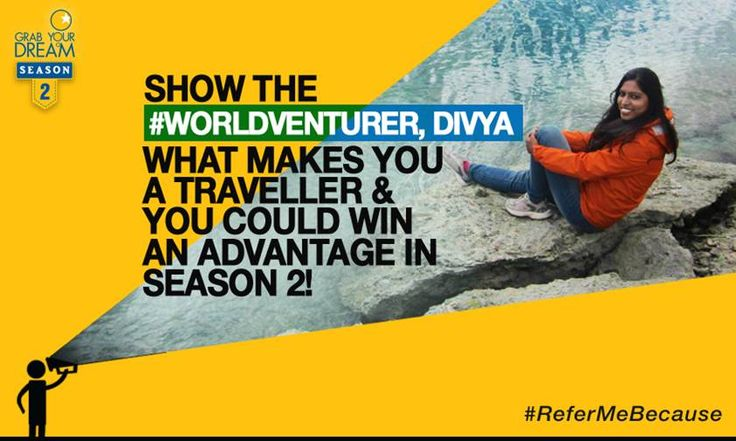 The #WorldVenturer has traveled solo through the land of mummies and she's back home to share her stories. Show Divya what makes you a traveller and she might give you that much envied advantage in Season 2! T&C: http://cnk.com/T&CReferMeBecause
