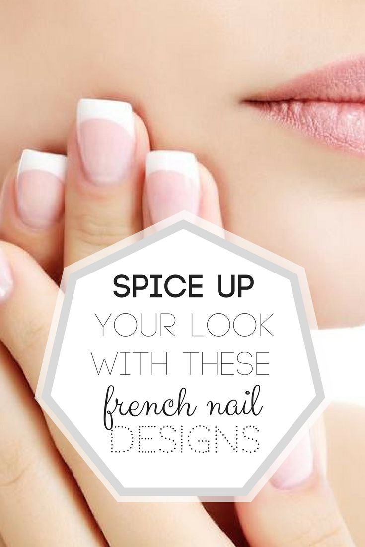 Spice Up Your Look With These French Nail Designs>> http://declarebeauty.com/nails/french-nail-designs/