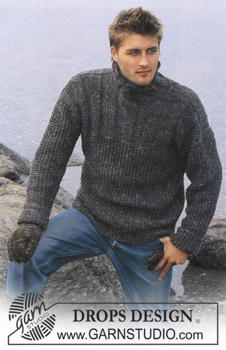 DROPS Pullover in Karisma Superwash and Fabel and Gloves in Karisma ~ DROPS Design, FREE Pattern