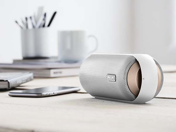 Philips BT6000C/37 Splash-Proof Portable Bluetooth Speaker