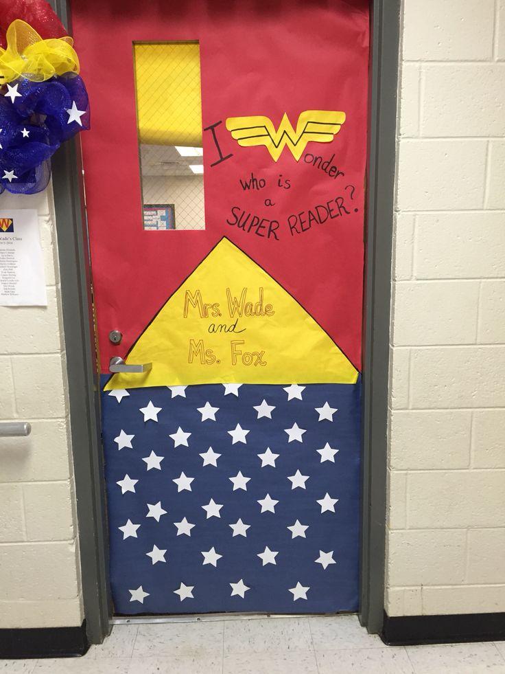 Wonder-Woman door for a Super-hero themed classroom. I ...