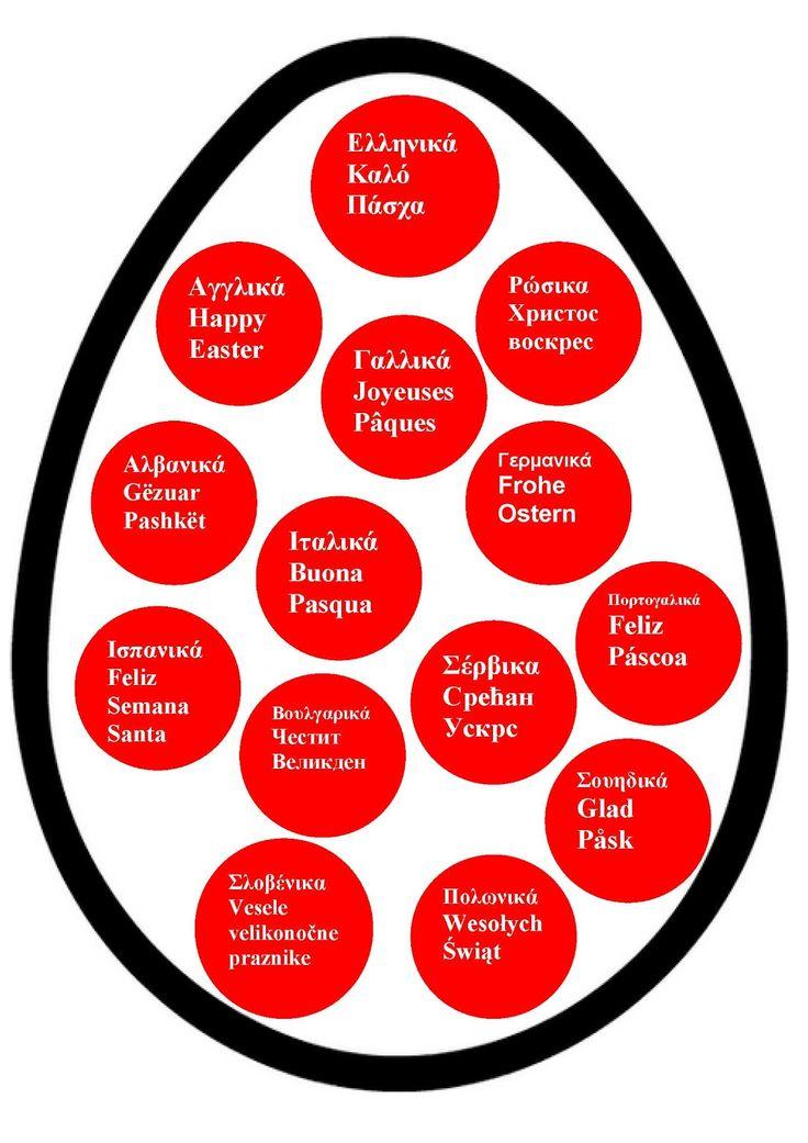 Ζήση Ανθή :Εκπαιδευτικό υλικό ,με ιδέες και δραστηριότητες για το νηπιαγωγείο .    Καλό Πάσχα σε διάφορες γλώσσες   Συνήθως στα νηπιαγωγεία ...
