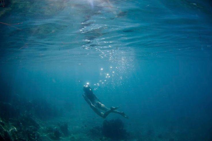 Poppy Drayton - Mermaid practice off the shores of Tahiti