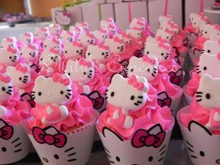 cupcake hello kitty pour anniversaire