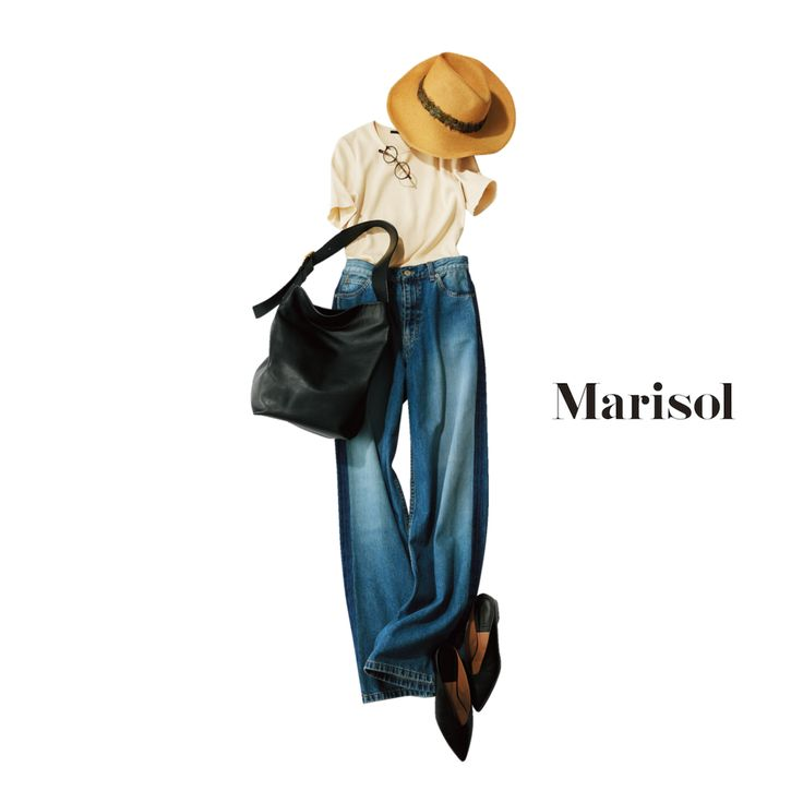 両親との介護旅行もトレンド感のあるゆったりデニムコーデで楽しむMarisol ONLINE|女っぷり上々!40代をもっとキレイに。