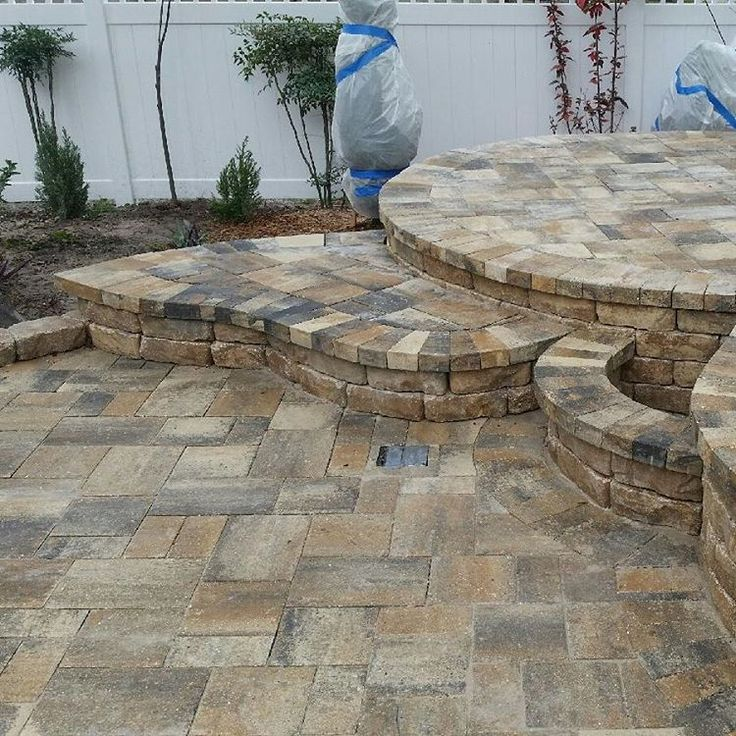 Heritage paver color cream beige charcoal edgar for Pinterest patio pavers