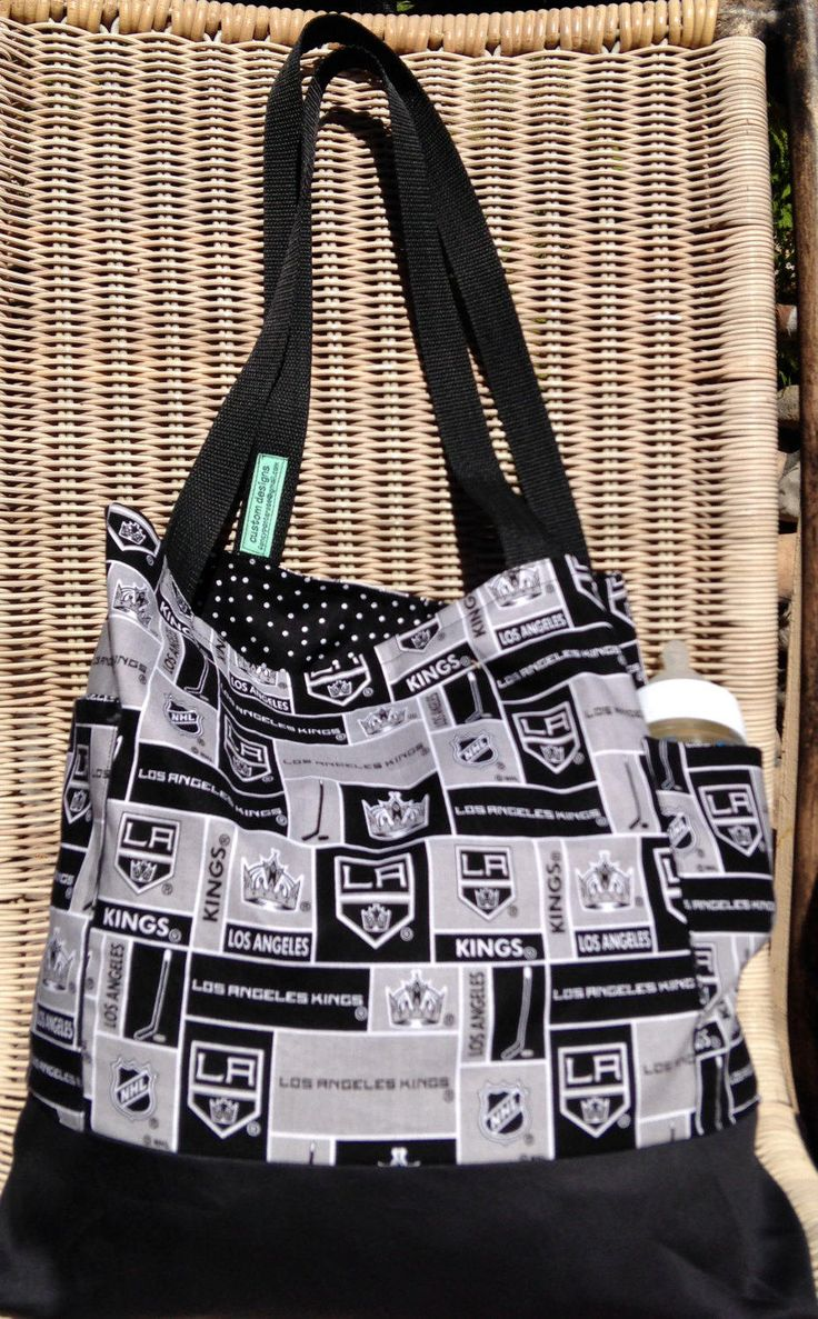 Los Angeles Kings Diaper Bag, Daddy Diaper Bag, Two Outside Pockets, Tote Bag, Purse, Hockey, Shopping Market Bag, Gender Neutral Diaper Bag by designsbyfancyrose on Etsy