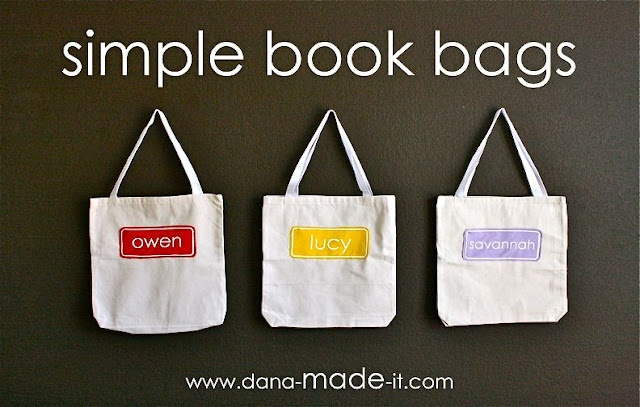 Simple Book Bag Tutorial Good For Library Books Hooks