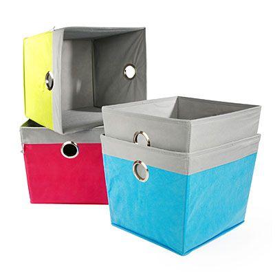 creative spaces cotton canvas storage bins at big lots