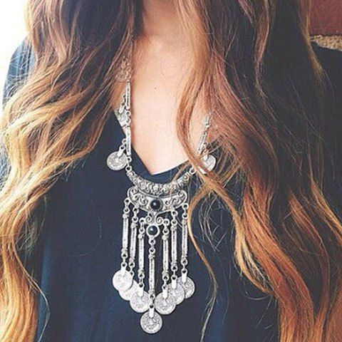Stylish Tassels Coin Shape Necklace For WomenNecklaces | RoseGal.com