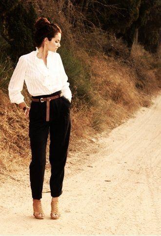 Zara Pants and Vintage Shirt