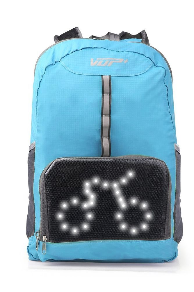VUP Plus Foldable Cycling Backpack With LED Signal Light Wireless Remote Super