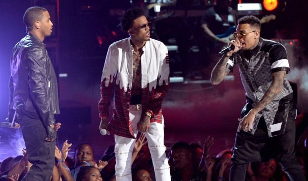 2014 BET Awards: August Alsina, Trey Songz, and Chris Brown Perform Together