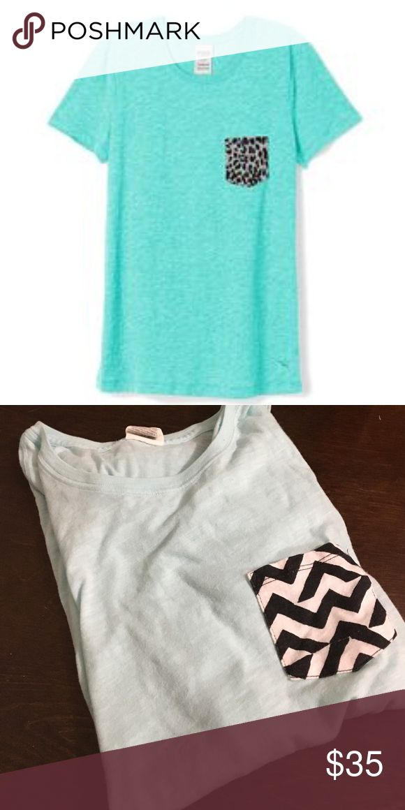 Victoria's Secret PINK Tee with Chevron Pocket Good used condition. Worn twice. 1st picture shows style second is actual shirt. PINK Victoria's Secret Tops Tees - Short Sleeve