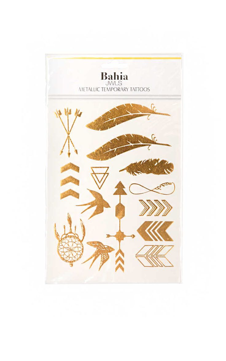 Temporary Tattoo Arrows GOLD - no worries it is summer - Raglady