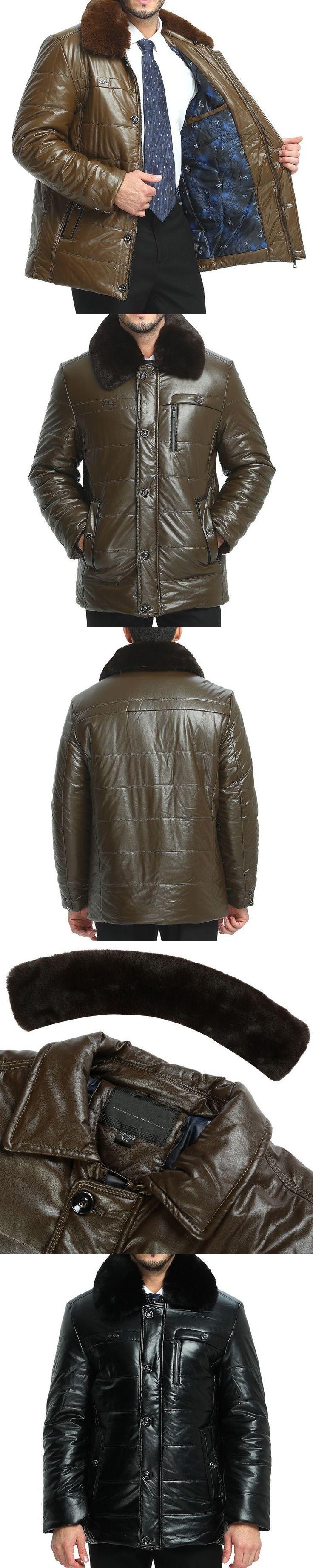 ZEESHANT Leather Jacket Men's Casual Fashion Jackets Lapel Black and Brown Zipper Faux Fur Men Coat 3XL 5XL Jaqueta De Couro #mensjackets
