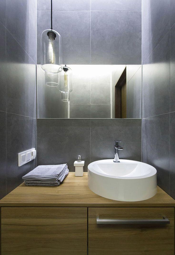Ванная комната в стиле минимализм, Lugerin Architects