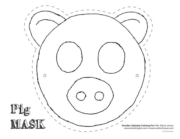 Pig Mask Theatrics Kiddos Play Craft Coloring