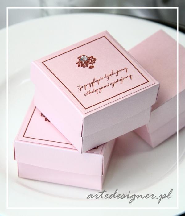 Podziękowania dla gości Victoria / Victoria favor boxes. Product By / www.artedesigner.pl