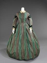 17 Best Images About Historische Mode: Victorian - Krinoline (1840 ... Gestreifte Grne Wnde
