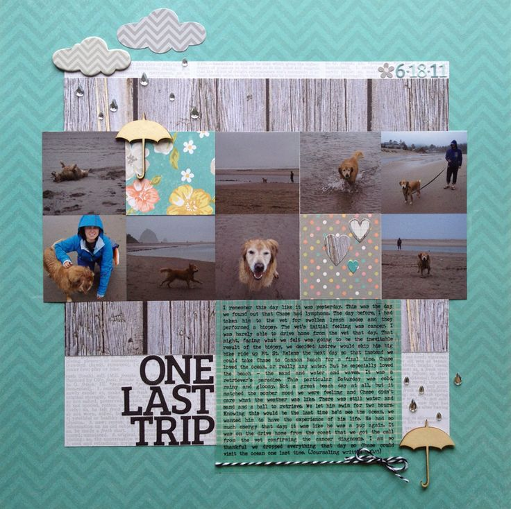#papercraft #scrapbook #layout    One Last Trip - Scrapbook.com
