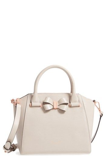 0cd833354 TED BAKER CHARMEA BOW SMALL LEATHER TOTE - BEIGE.  tedbaker  bags ...