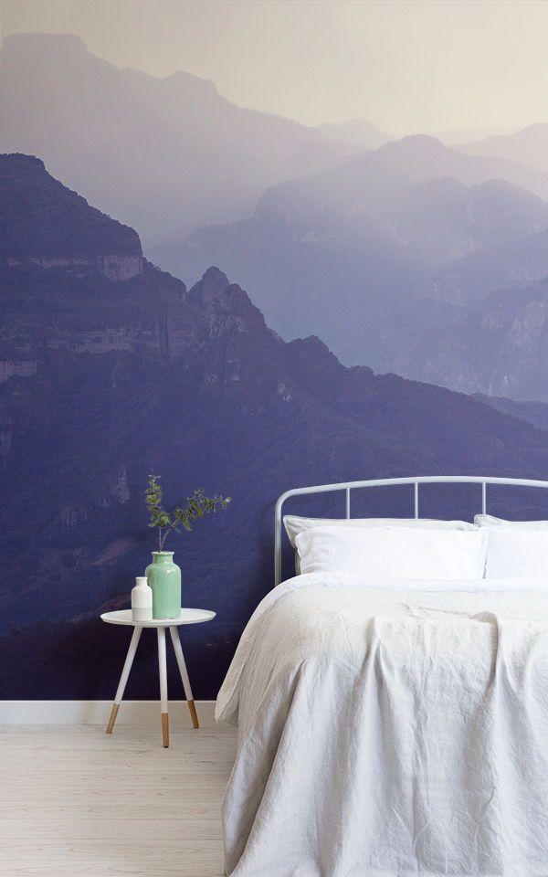 Foggy Mountain Wallpaper Muralswallpaper Diy Bedroom Decor For