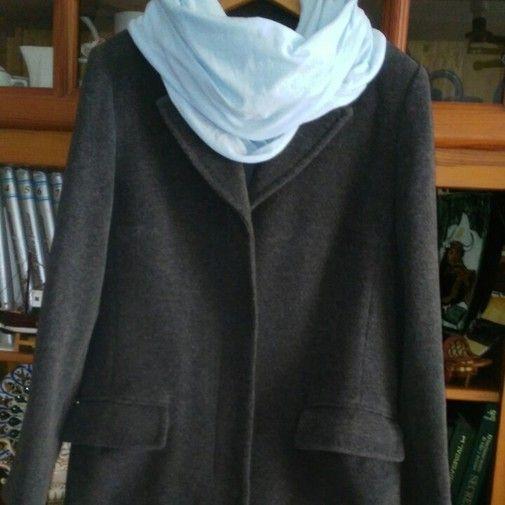 Abrigo de paño gris - Chicfy