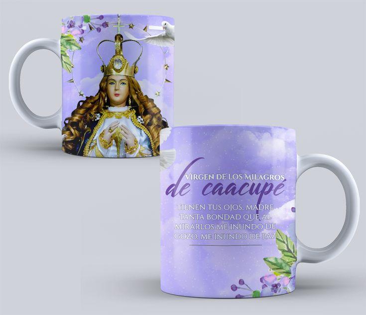 VIRGEN DE CAACUPE Diseños PSD para Tazas de vírgenes Católicas Pack N 1 #mottaplantillas #sublimacion #tazas